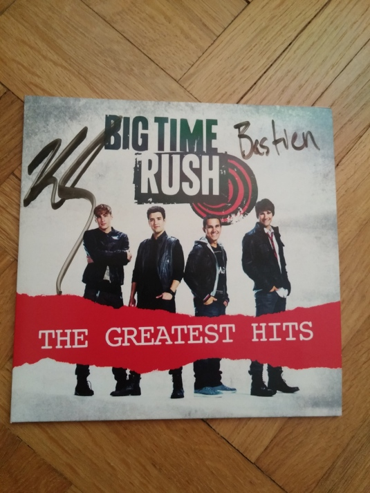 CD Collector Big time Rush dédicacé