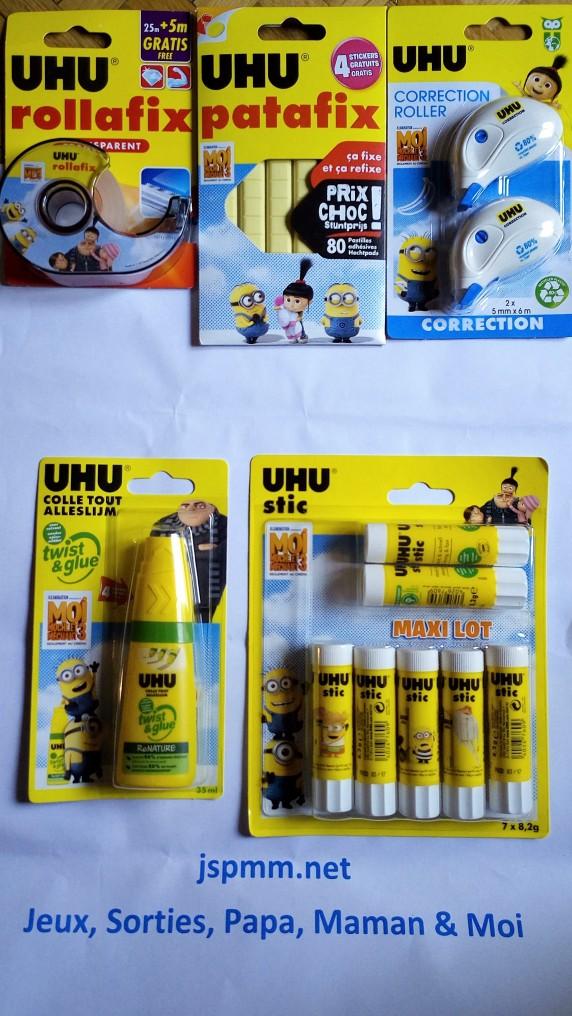 Produits Uhu aux couleurs de Moi Moche & Méchant 3