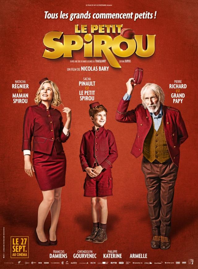 Sacha Pinault : le petit Spirou - Pierre Richard : Grand Papy - Natacha Régnier : la mère