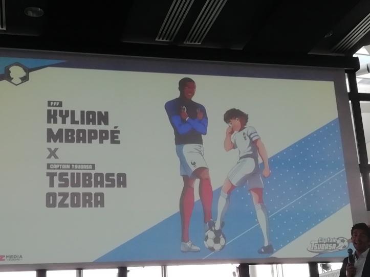 Kylian Pbappé fait équipe avec Tsubasa Ozora